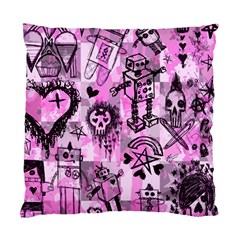 Pink Scene Kid Sketches Cushion Case (single Sided)  by ArtistRoseanneJones