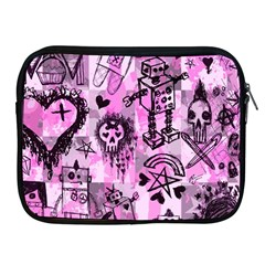 Pink Scene Kid Sketches Apple Ipad Zippered Sleeve by ArtistRoseanneJones