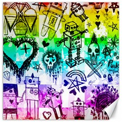 Rainbow Scene Kid Sketches Canvas 16  X 16  (unframed) by ArtistRoseanneJones