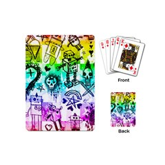 Rainbow Scene Kid Sketches Playing Cards (mini) by ArtistRoseanneJones