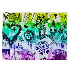Rainbow Scene Kid Sketches Cosmetic Bag (xxl) by ArtistRoseanneJones
