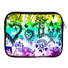 Rainbow Scene Kid Sketches Apple Ipad Zippered Sleeve by ArtistRoseanneJones