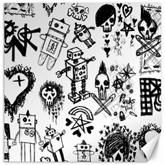 Scene Kid Sketches Canvas 20  X 20  (unframed) by ArtistRoseanneJones