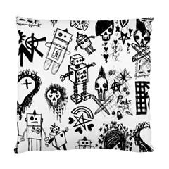 Scene Kid Sketches Cushion Case (single Sided)  by ArtistRoseanneJones