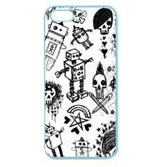 Scene Kid Sketches Apple Seamless Iphone 5 Case (color) by ArtistRoseanneJones