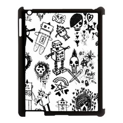 Scene Kid Sketches Apple Ipad 3/4 Case (black) by ArtistRoseanneJones