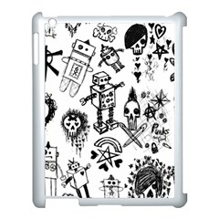 Scene Kid Sketches Apple Ipad 3/4 Case (white) by ArtistRoseanneJones