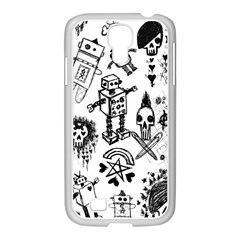 Scene Kid Sketches Samsung Galaxy S4 I9500/ I9505 Case (white) by ArtistRoseanneJones