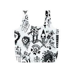 Scene Kid Sketches Reusable Bag (S) by ArtistRoseanneJones
