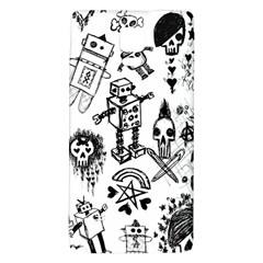 Scene Kid Sketches Samsung Note 4 Hardshell Back Case by ArtistRoseanneJones
