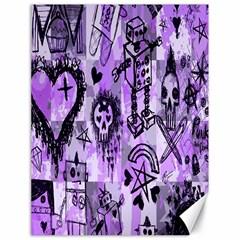 Purple Scene Kid Sketches Canvas 18  X 24  (unframed) by ArtistRoseanneJones