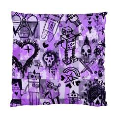 Purple Scene Kid Sketches Cushion Case (single Sided)  by ArtistRoseanneJones