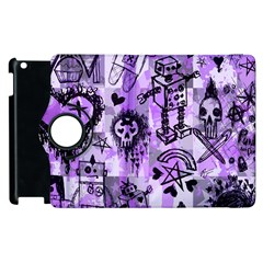 Purple Scene Kid Sketches Apple Ipad 3/4 Flip 360 Case by ArtistRoseanneJones