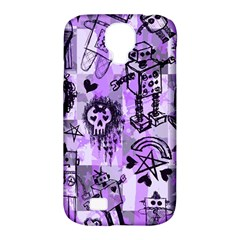 Purple Scene Kid Sketches Samsung Galaxy S4 Classic Hardshell Case (pc+silicone) by ArtistRoseanneJones