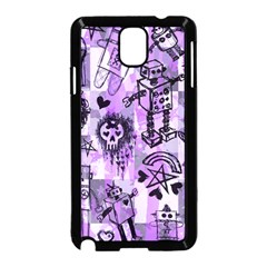 Purple Scene Kid Sketches Samsung Galaxy Note 3 Neo Hardshell Case (black) by ArtistRoseanneJones