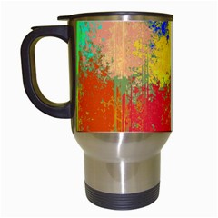 Colorful Paint Spots Travel Mug (white) by LalyLauraFLM