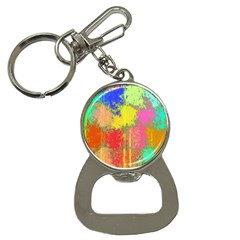 Colorful Paint Spots Bottle Opener Key Chain by LalyLauraFLM