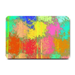 Colorful Paint Spots Small Doormat by LalyLauraFLM