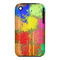 Colorful Paint Spots Apple Iphone 3g/3gs Hardshell Case (pc+silicone) by LalyLauraFLM