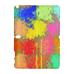 Colorful Paint Spots Samsung Galaxy Note 10 1 (p600) Hardshell Case by LalyLauraFLM