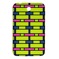 Pink,green,blue Rectangles Pattern Samsung Galaxy Tab 3 (7 ) P3200 Hardshell Case  by LalyLauraFLM