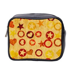 Shapes On Vintage Paper Mini Toiletries Bag (two Sides) by LalyLauraFLM
