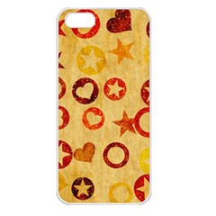 Shapes On Vintage Paper Apple Iphone 5 Seamless Case (white) by LalyLauraFLM