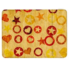 Shapes On Vintage Paper Samsung Galaxy Tab 7  P1000 Flip Case by LalyLauraFLM