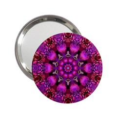 Pink Fractal Kaleidoscope  Handbag Mirror (2 25 ) by KirstenStar