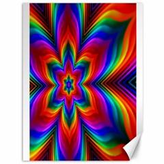 Rainbow Flower Canvas 36  X 48  (unframed) by KirstenStar