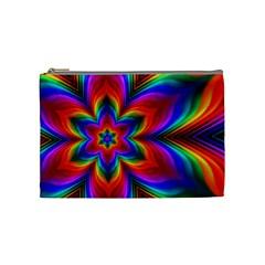Rainbow Flower Cosmetic Bag (Medium) by KirstenStar