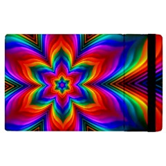 Rainbow Flower Apple Ipad 3/4 Flip Case by KirstenStar