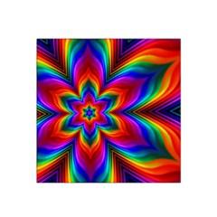 Rainbow Flower Satin Bandana Scarf by KirstenStar