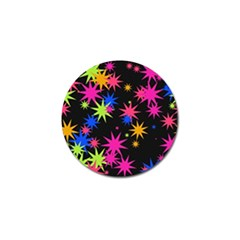 Colorful Stars Pattern Golf Ball Marker (10 Pack) by LalyLauraFLM