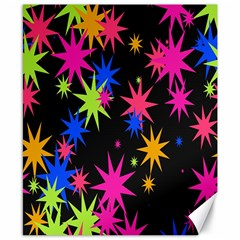 Colorful Stars Pattern Canvas 8  X 10  by LalyLauraFLM