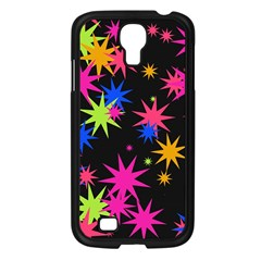 Colorful Stars Pattern Samsung Galaxy S4 I9500/ I9505 Case (black) by LalyLauraFLM