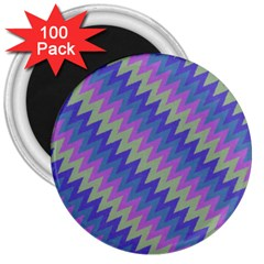 Diagonal Chevron Pattern 3  Magnet (100 Pack) by LalyLauraFLM