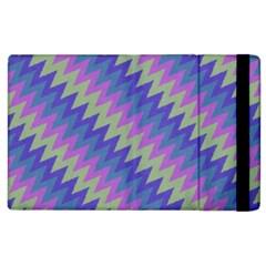 Diagonal Chevron Pattern Apple Ipad 2 Flip Case by LalyLauraFLM