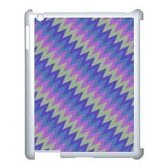Diagonal Chevron Pattern Apple Ipad 3/4 Case (white) by LalyLauraFLM