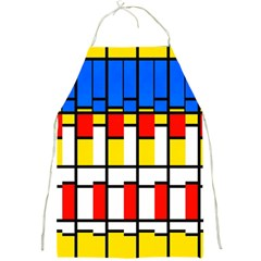 Colorful Rectangles Pattern Full Print Apron by LalyLauraFLM