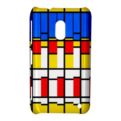 Colorful Rectangles Pattern Nokia Lumia 620 Hardshell Case by LalyLauraFLM