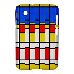 Colorful rectangles pattern Samsung Galaxy Tab 2 (7 ) P3100 Hardshell Case  by LalyLauraFLM