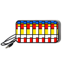 Colorful Rectangles Pattern Portable Speaker by LalyLauraFLM