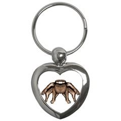 Fantasty Dark Alien Monster Key Chain (heart) by dflcprints