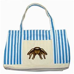 Fantasty Dark Alien Monster Blue Striped Tote Bag by dflcprints