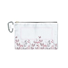 Floral Cosmetic Bag (s) By Joy   Canvas Cosmetic Bag (small)   Edkaybp18itc   Www Artscow Com Front