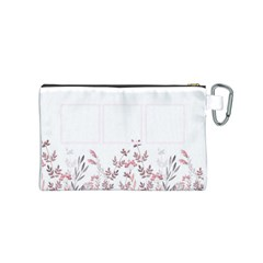 Floral Cosmetic Bag (s) By Joy   Canvas Cosmetic Bag (small)   Edkaybp18itc   Www Artscow Com Back