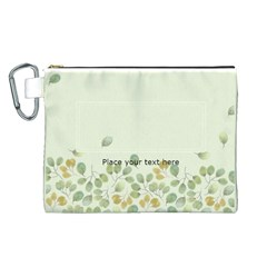Floral Cosmetic Bag (l) By Joy   Canvas Cosmetic Bag (large)   A4q3cx0fgnmo   Www Artscow Com Front