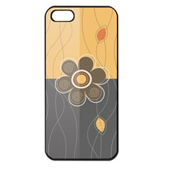 Floral Design Apple Iphone 5 Seamless Case (black) by EveStock
