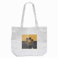 Floral Design Tote Bag (white) by EveStock